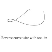 Reverse Curve Wire Toe in