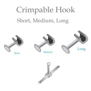 Crimpable Hooks Short Medium Longjpg